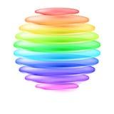 Esfera colorida abstracta Imagenes de archivo