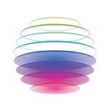 Esfera colorida no branco Imagem de Stock Royalty Free