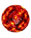Esfera colorida no vermelho e no amarelo Imagens de Stock Royalty Free