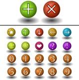Esfera com símbolos Imagens de Stock