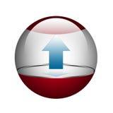 Esfera com seta. Fotografia de Stock