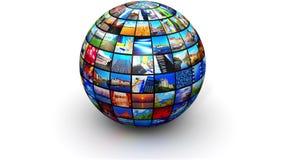 Esfera con las imágenes del color stock de ilustración