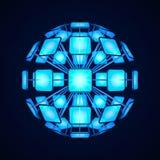 Esfera con las pantallas luminosas Maqueta en el estilo del alto techn ilustración del vector