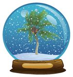 Esfera con una nieve Imagen de archivo libre de regalías