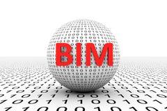 Esfera conceptual de BIM stock de ilustración