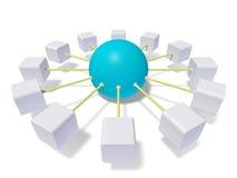 Esfera conectada Imagens de Stock