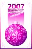 Esfera cor-de-rosa do Natal - vetor Imagens de Stock Royalty Free