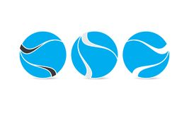 Esfera creativa Logo Template - Logo Design - logotipo circulares redondeados Abstract Modern Company Stock de ilustración
