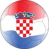 Esfera croatia do vetor do futebol Fotos de Stock Royalty Free