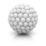 Esfera 3d abstrata no fundo branco Imagens de Stock