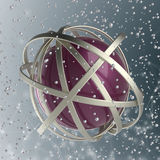 esfera 3d de anéis coloridos na nuvem das gotas coloridos Imagem de Stock Royalty Free