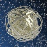 esfera 3d de anillos multicolores en nube de descensos multicolores Imagenes de archivo
