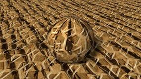 Esfera 3D de la piel del tigre Imagen de archivo