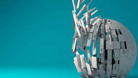 Esfera 3d geométrica animado ilustração royalty free