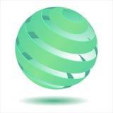 esfera 3D verde Foto de Stock Royalty Free