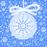 Esfera da árvore de Natal Fotografia de Stock