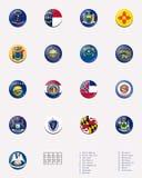 Esfera da bandeira do estado/selo de ESTADOS UNIDOS 3/3 Imagem de Stock