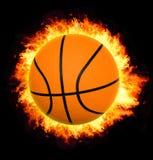 Esfera da cesta no incêndio Fotografia de Stock Royalty Free