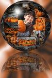 Esfera da correcção de programa da abóbora Imagens de Stock Royalty Free