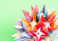 Esfera da flor de Origami Fotografia de Stock Royalty Free
