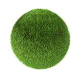 esfera da grama 3D verde Imagens de Stock Royalty Free