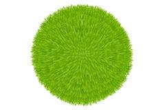 Esfera da grama verde. Vetor Fotos de Stock Royalty Free