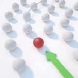 Esfera da liderança Fotografia de Stock