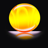 Esfera da luz efervescente Foto de Stock Royalty Free