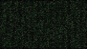 Esfera da matriz de Digitas que cai para baixo verde ilustração stock