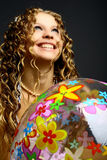 Esfera da menina Imagens de Stock Royalty Free