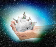 Esfera da neve do Xmas Fotos de Stock Royalty Free