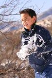 Esfera da neve embalada foto de stock
