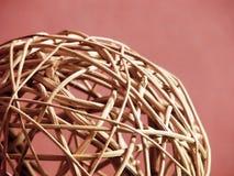 Esfera da palha do Natal Imagem de Stock Royalty Free