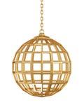 Esfera da porta dourada ilustração stock