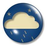 Esfera da tecla da chuva da noite ilustração royalty free