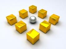 Esfera de acero cercada Fotos de archivo libres de regalías