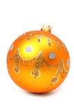 Esfera de ano novo da cor alaranjada Imagem de Stock