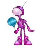 Esfera de ar cor-de-rosa do robô Fotos de Stock Royalty Free