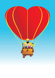 Esfera de ar do amor no céu Imagens de Stock Royalty Free