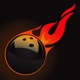 A esfera de bowling ajustou 3 ilustração royalty free