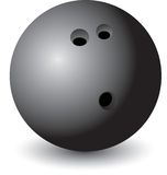 Esfera de bowling isolada Fotografia de Stock Royalty Free