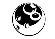 Esfera de bowling - preto e branco Imagens de Stock
