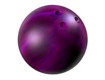 Esfera de bowling roxa Imagens de Stock