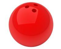 Esfera de bowling vermelha Fotografia de Stock Royalty Free