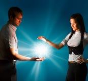 Esfera de brilho da energia Fotografia de Stock Royalty Free