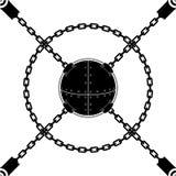 Esfera de cadena inconsútil Imagen de archivo libre de regalías