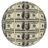 Esfera de cem dólares Foto de Stock