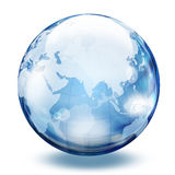Esfera de cristal 2 del mundo Foto de archivo libre de regalías