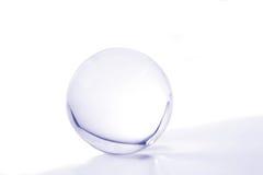 Esfera de cristal azul Imagem de Stock