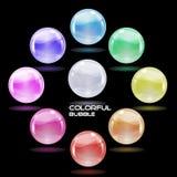 Esfera de cristal colorida Fotos de archivo libres de regalías